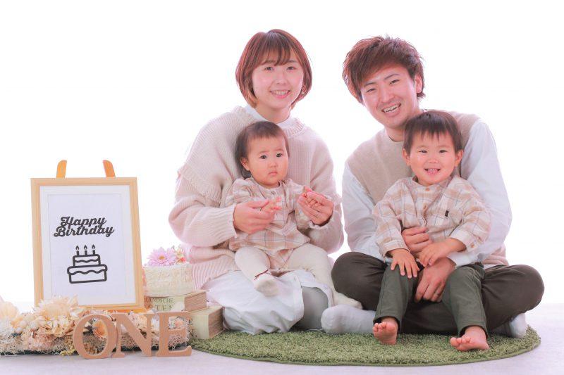 バースデーフォト家族写真