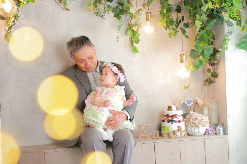 家族写真おじいちゃん