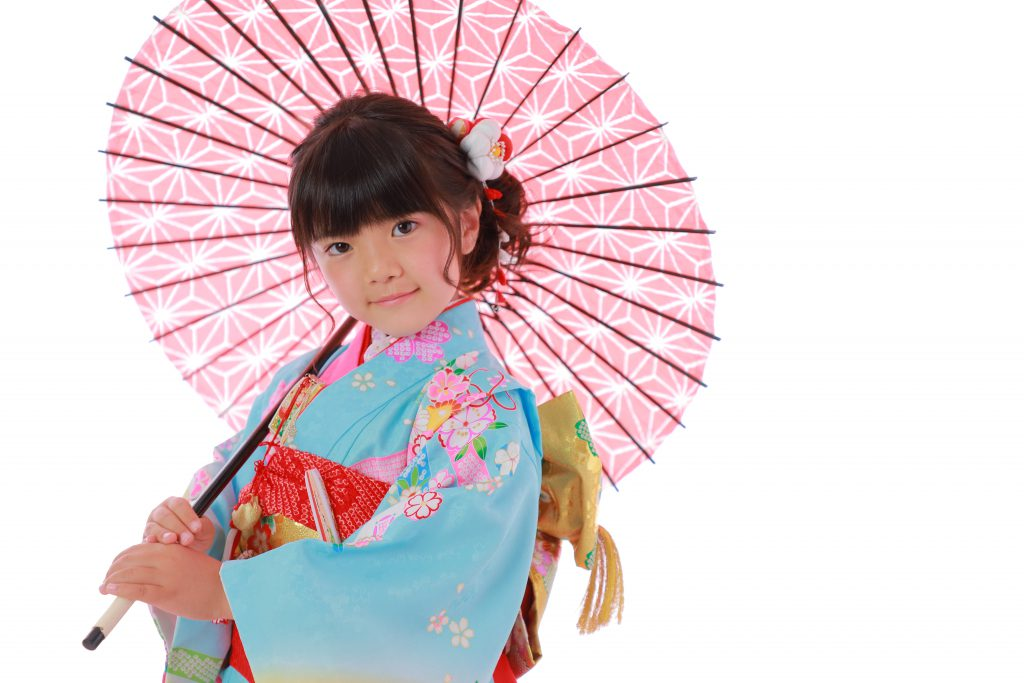 7歳女の子傘
